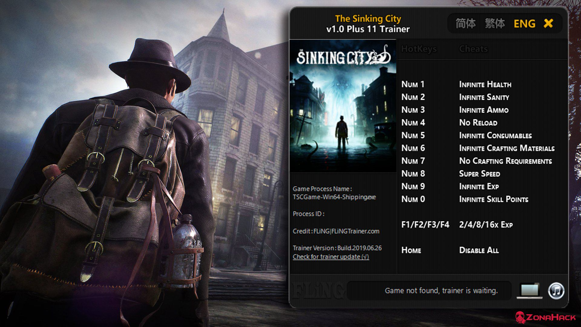 Трейнер к игре The Sinking City (+11) v.1.0 от Fling